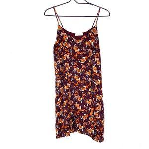 Alter'd State Maroon Floral Tank Dress w/ Pockets